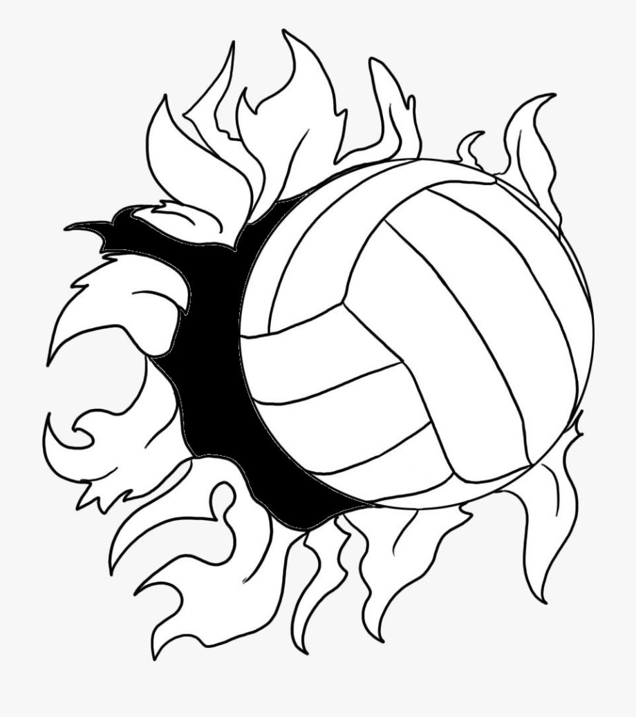 Volleyball clipart easy. Beach clip art draw