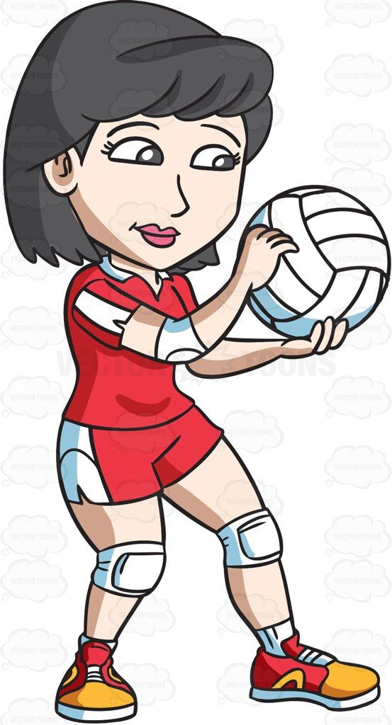 Volleyball clipart female volleyball player. A gets ready to