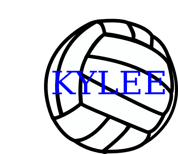 Clip art at clker. Volleyball clipart line