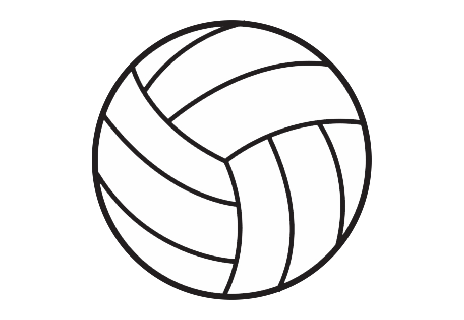 Free images transparent png. Volleyball clipart line art