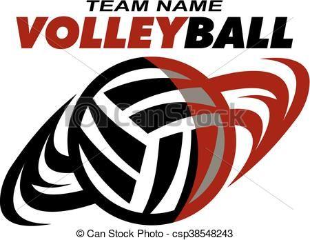 Volleyball clipart logo. Vector stock illustration royalty