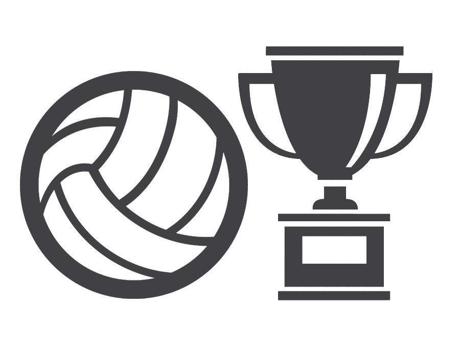 Volleyball clipart orange. Trophy free on dumielauxepices