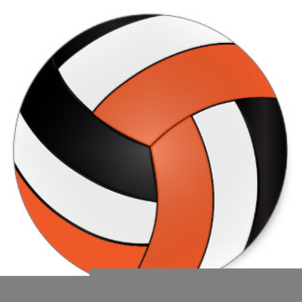 Blue free images at. Volleyball clipart orange