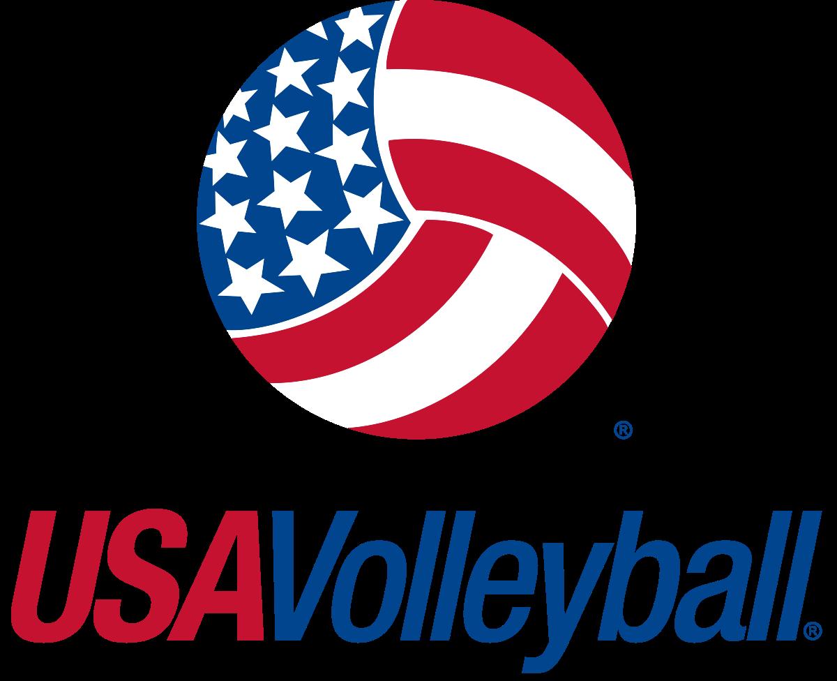 Usa vector logo library. Volleyball clipart paint splatter