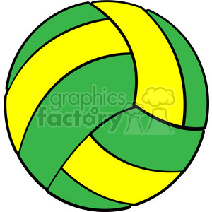 Volleyball clipart pdf. Sports equipment green yellow