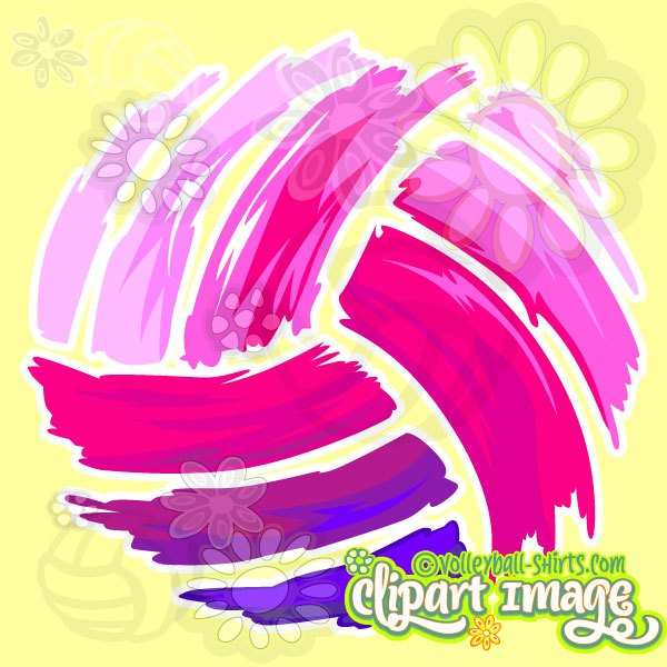 Volleyball clipart pink. Graphic unique library