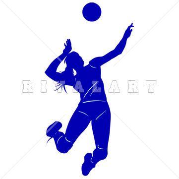 Volleyball clipart royal blue. Pin by rivalart com