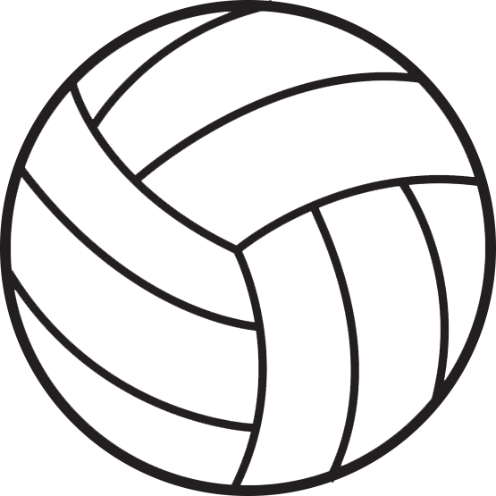Volleyball clipart simple. Pin by printer on