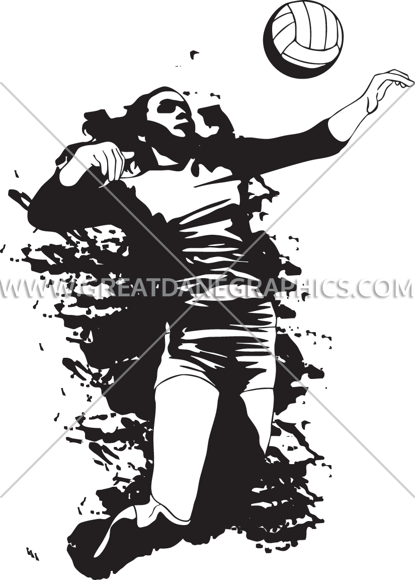 Volleyball clipart stencil. Scribble production ready artwork