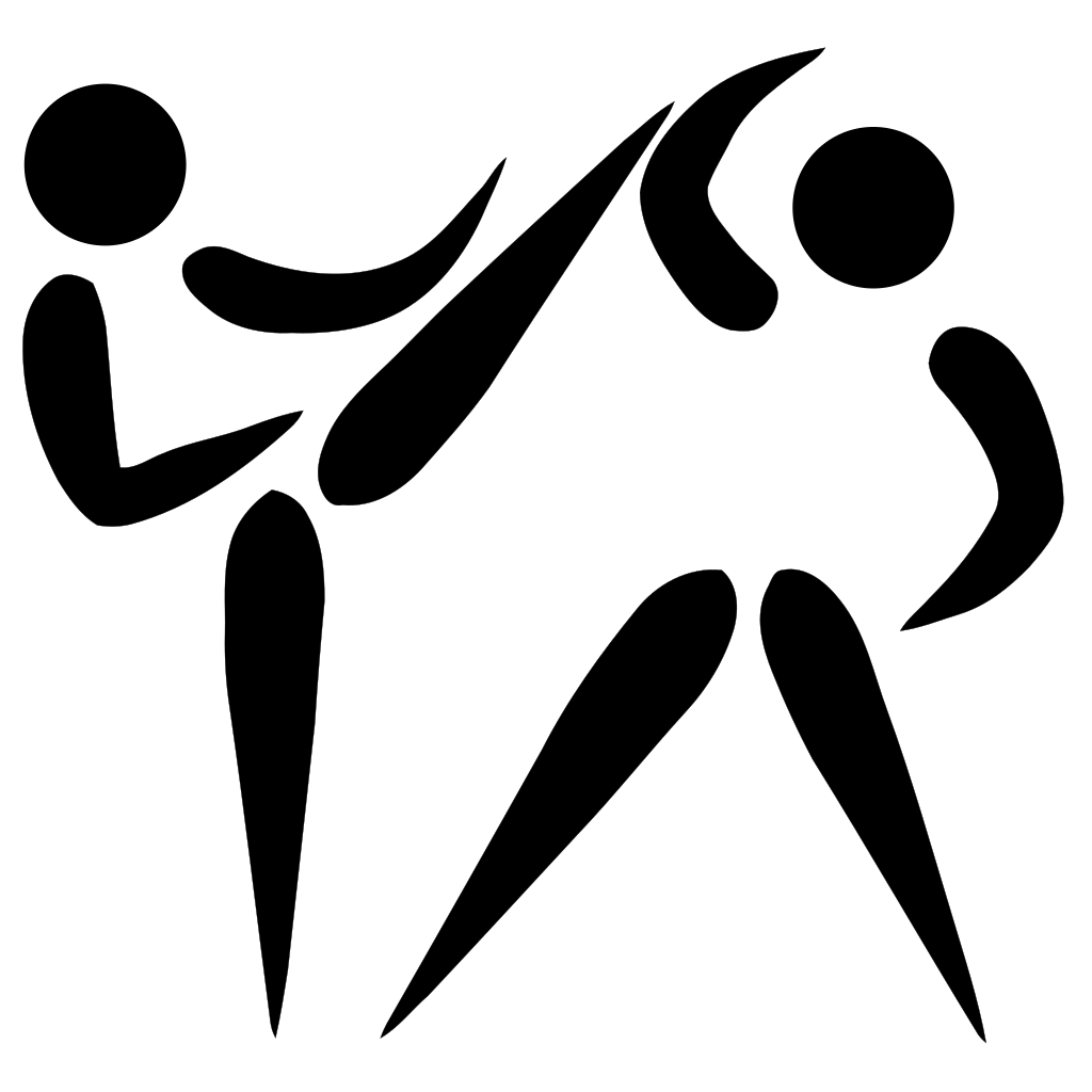 Volleyball clipart stencil. File taekwondo pictogram svg