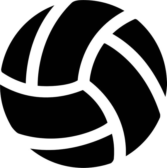 Ai eps jpg png. Volleyball clipart stencil