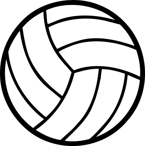 Volleyball clipart stencil.  best image of