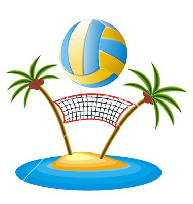 Beach net ciij clip. Volleyball clipart summer