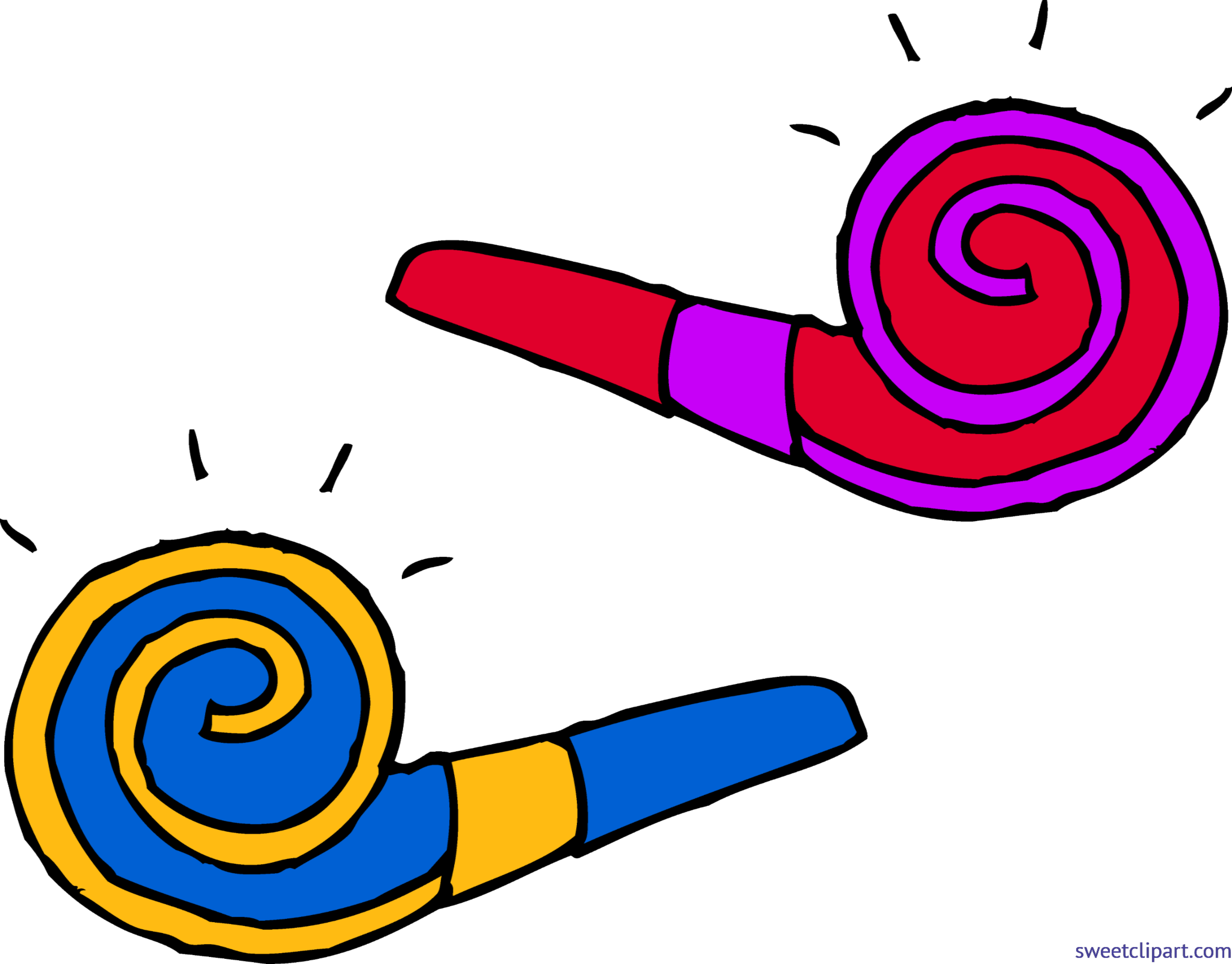 Party blowers clip art. Volleyball clipart trophy