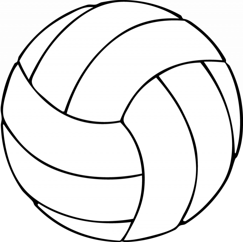 Black and white free. Volleyball clipart vintage