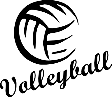 Volleyball clipart voleyball. Transparent