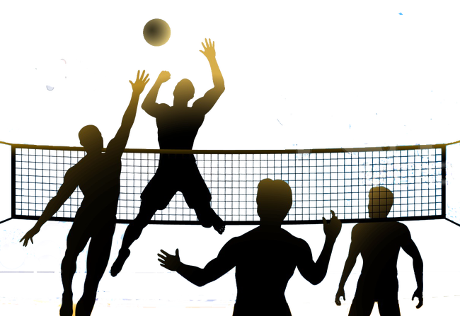 Volleyball clipart volleyball competition. Beach tournament net championship