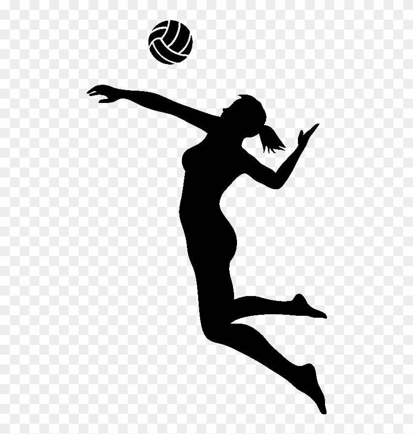 Spike png black and. Volleyball clipart volleyball hitter
