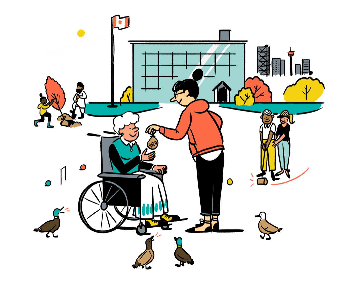 collection of people. Volunteering clipart