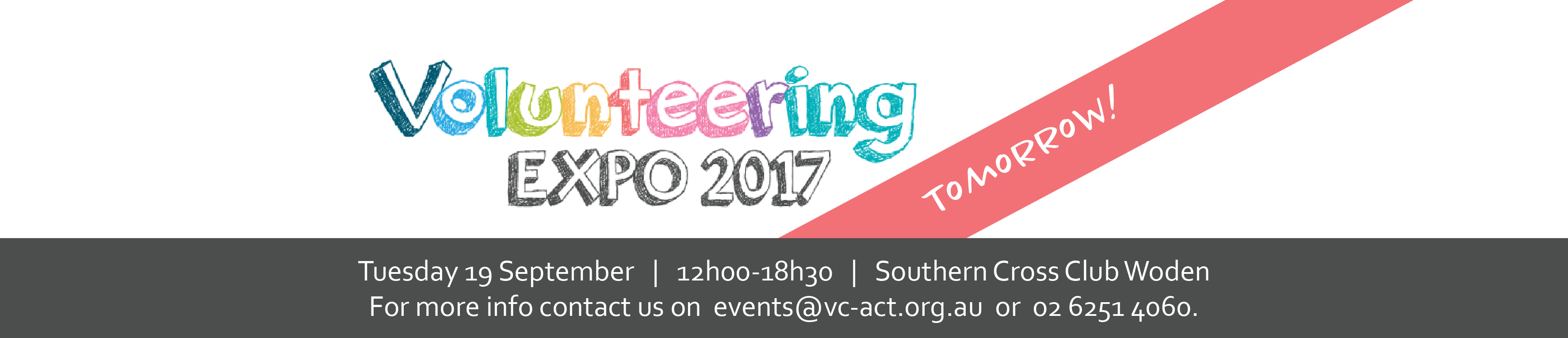 expo act please. Volunteering clipart banner