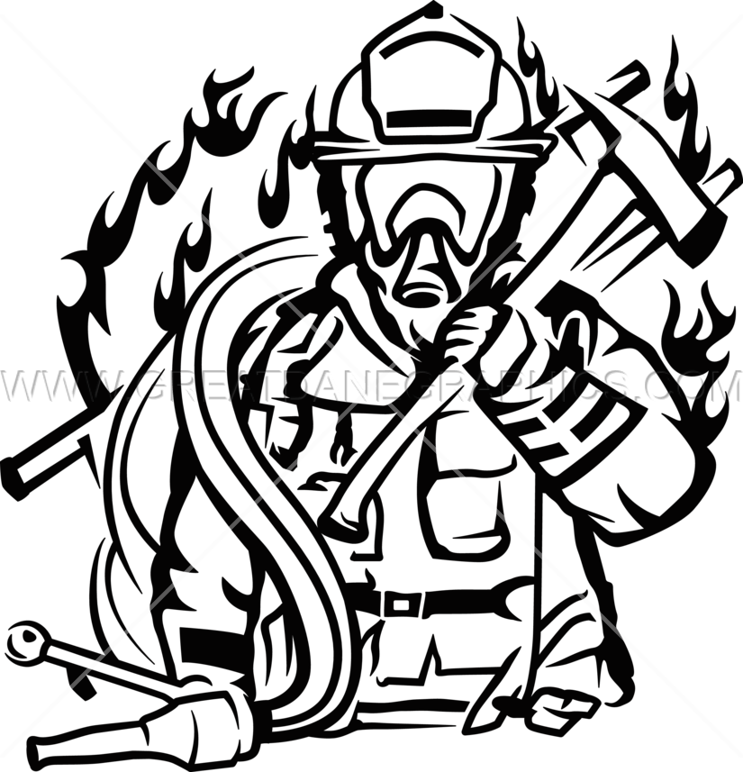 Volunteer fire fighter production. Volunteering clipart black and white