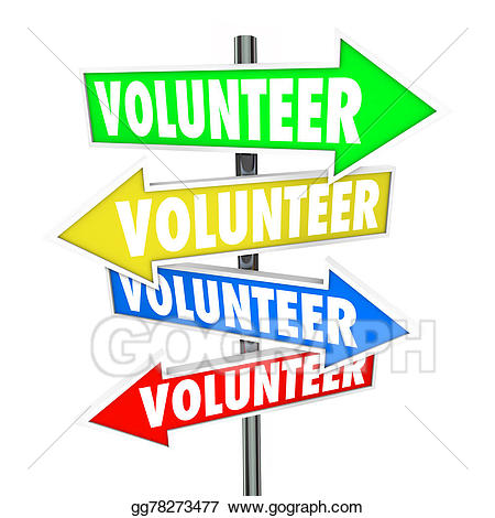 Stock illustration volunteer arrow. Volunteering clipart charity work