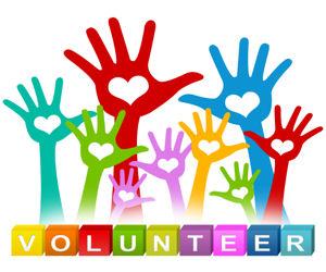 Volunteering clipart community project. The blue ribbon volunteer
