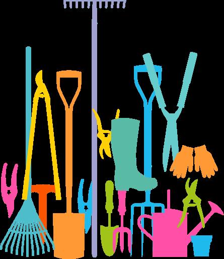 Volunteer in our gardens. Volunteering clipart gardening