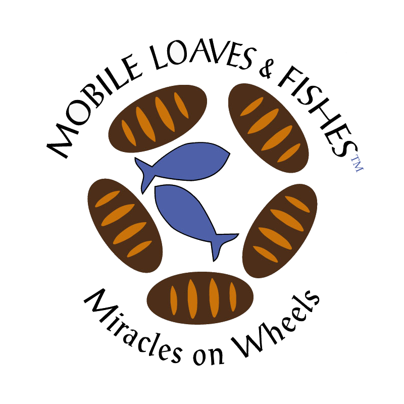 Mobile loaves and fishes. Volunteering clipart homeless shelter