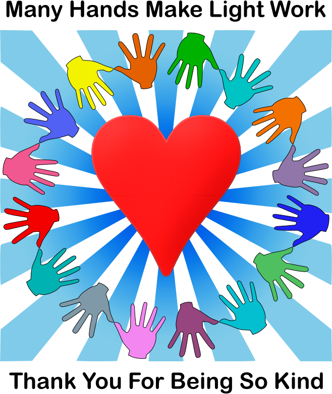 Volunteering clipart many hands make light work. Kind volunteers medium image