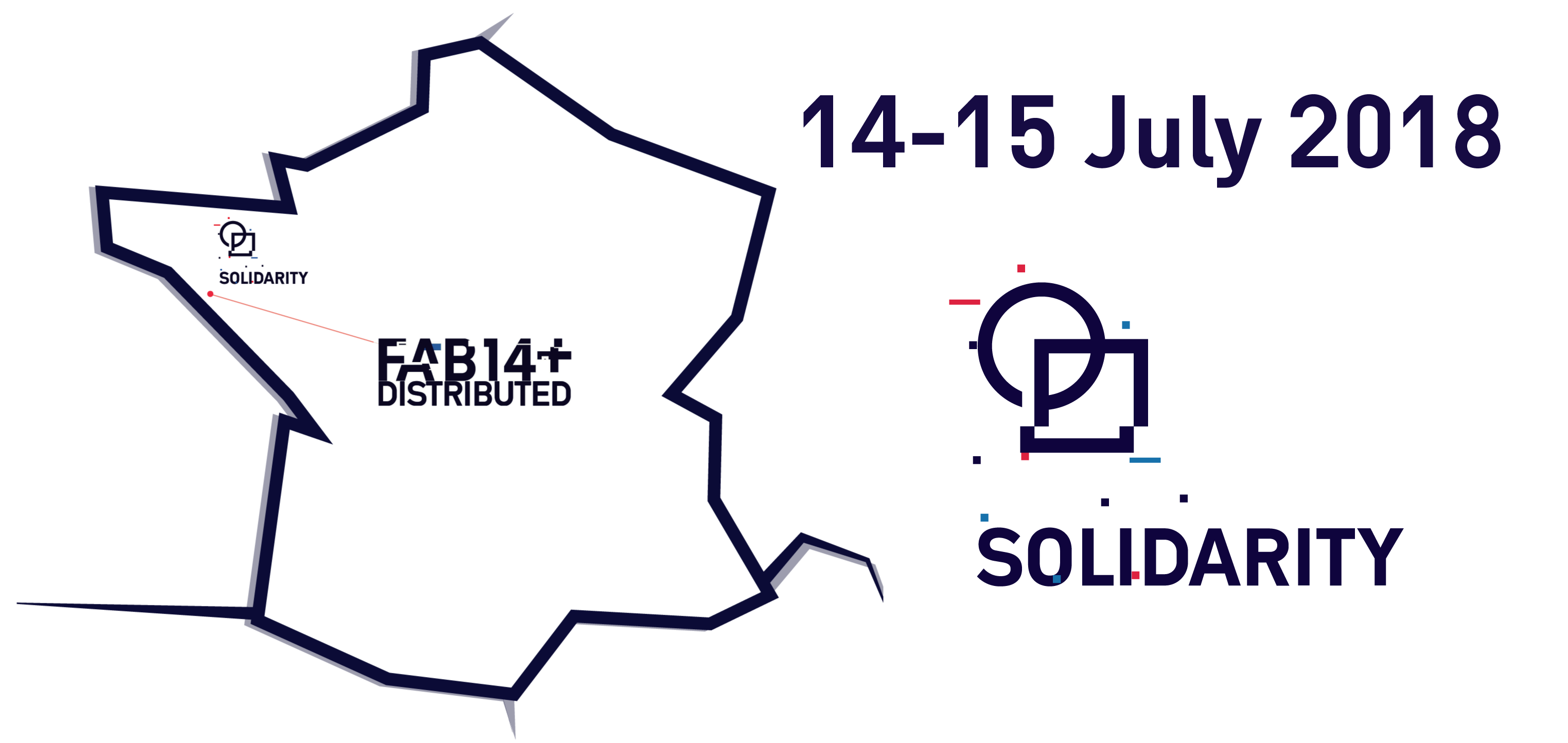 Fab france distributed events. Volunteering clipart solidarity