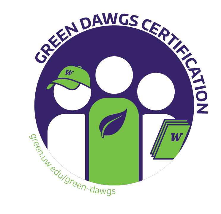 Volunteering clipart sustainability. Green dawgs certification uw