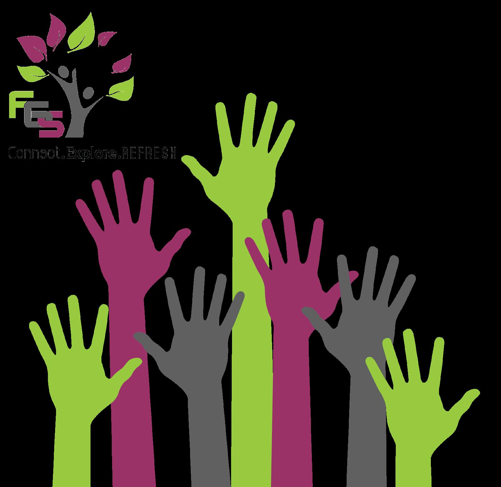 Fgs voice calling for. Volunteering clipart volunteer hand