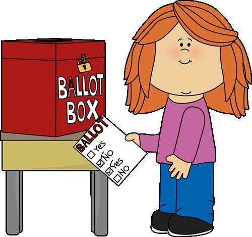 Voting clipart. Clip art images girl