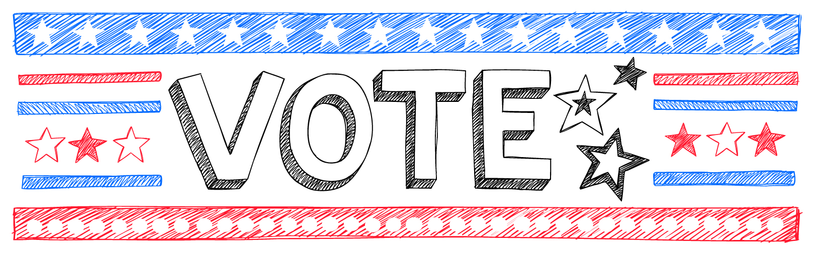 Voting clipart banner. Election