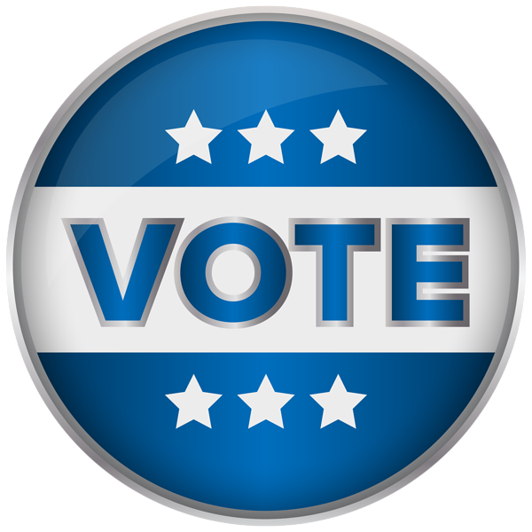 Blue badge vote png. Voting clipart banner