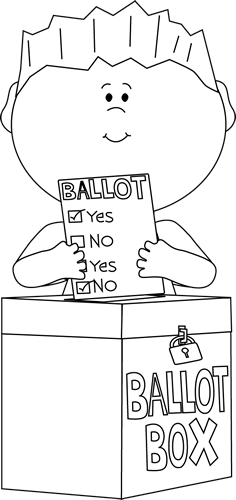 Voting clipart black and white. Panda free