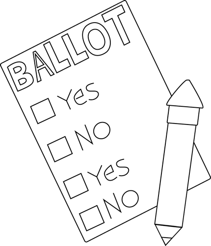 Clip art images . Voting clipart black and white