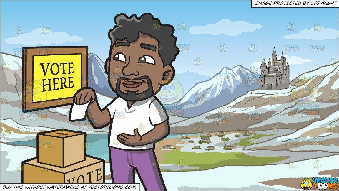 Voting clipart black man. A dropping his ballot