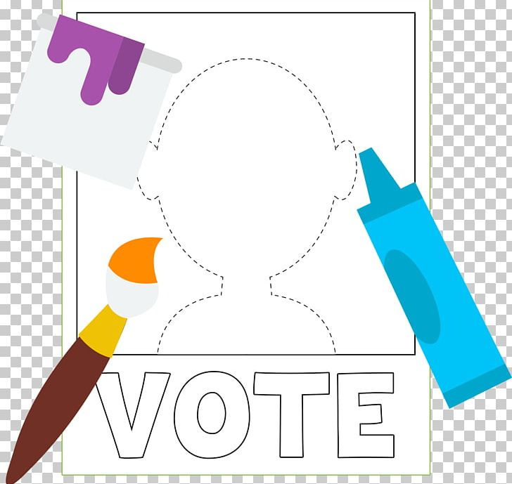Graphic design protest vote. Voting clipart campaign poster