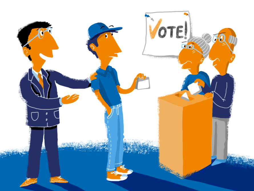 Voting clipart democratic right. Picture