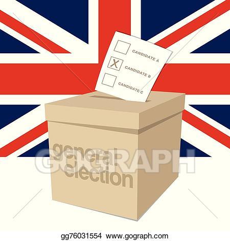 Voting clipart general election. Vector art ballot box