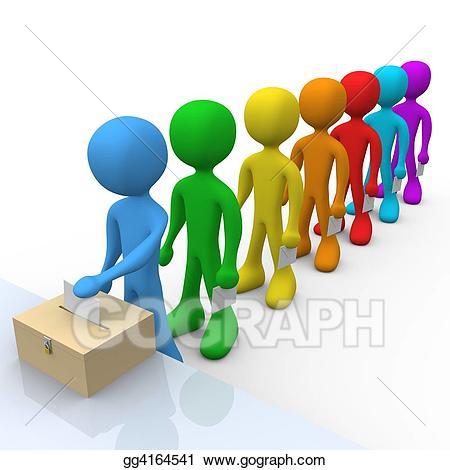 Stock illustration illustrations gg. Voting clipart in line