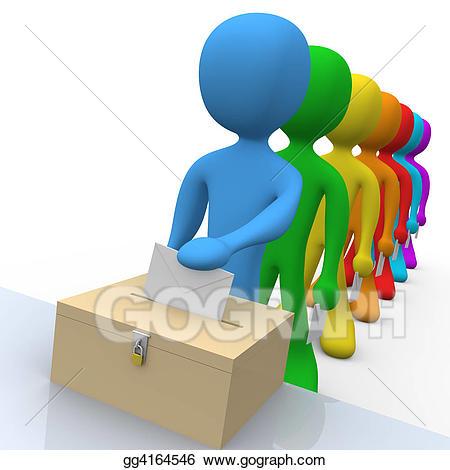 Voting clipart in line. Stock illustration illustrations gg