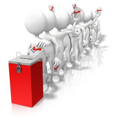 Voting clipart in line. Ballot box presentation great