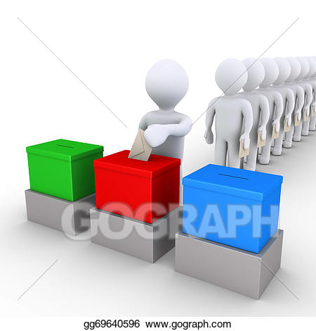 Stock illustrations people among. Voting clipart in line