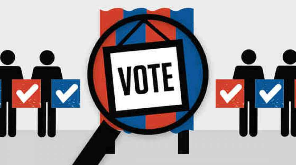 Conducting a voter registration. Voting clipart individual right