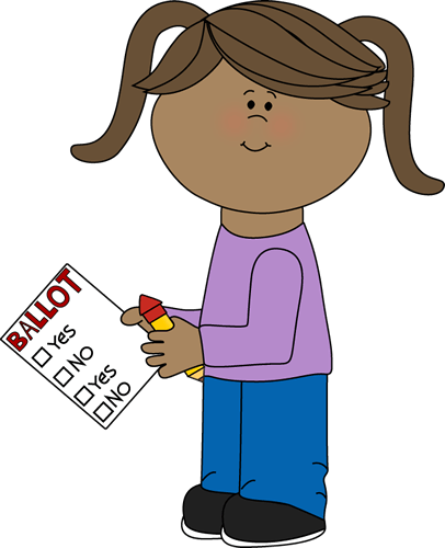 Cute cliparts zone . Voting clipart kid