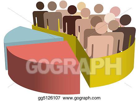 Vector art diverse group. Voting clipart majority