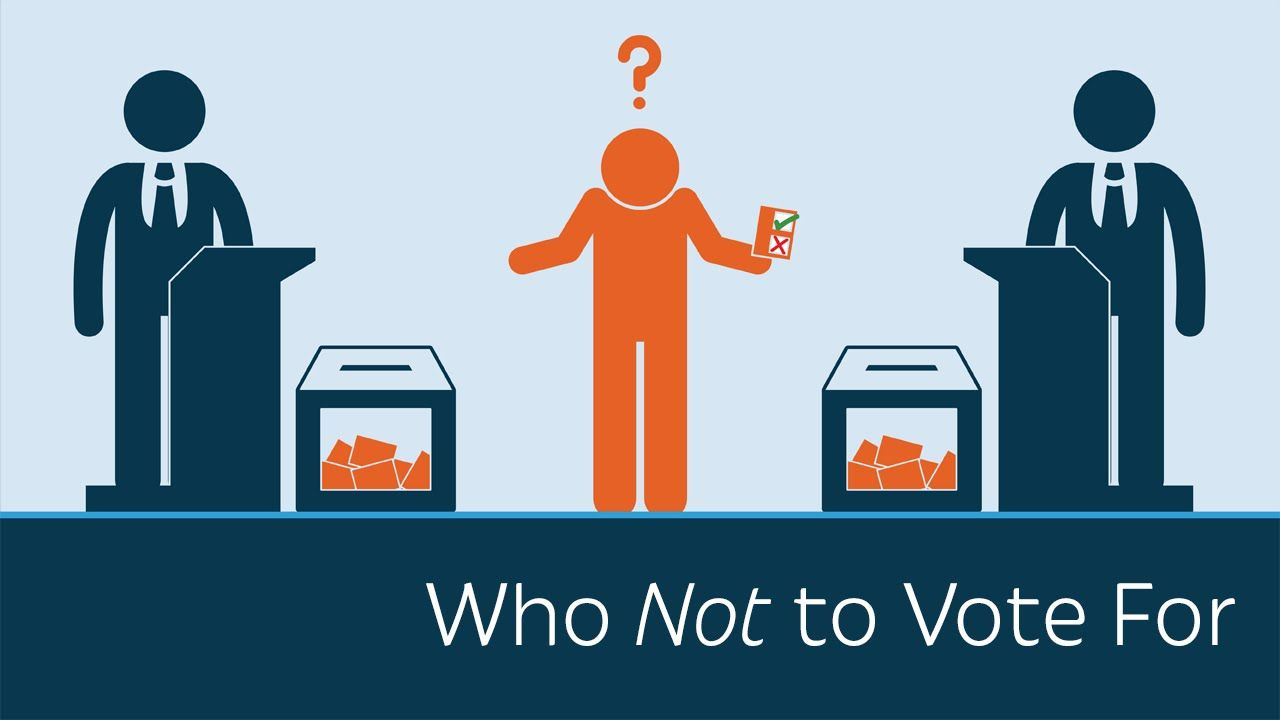Who not to vote. Voting clipart majority rule